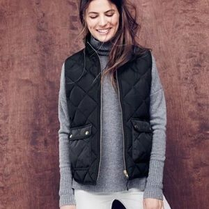 J. Crew quilted puff excursion vest jacket